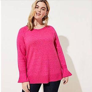 Loft plus flare cuff sweater